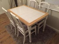 Beautiful farmhouse table with 4 chairs