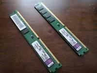 2 x Kingston RAM Module KVR1333D3N9/4G