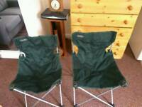 Folding fishing / camping chairs