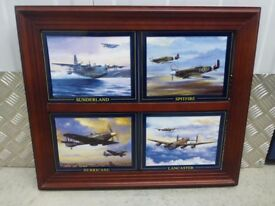 Limited Edition 'Magnificent four' war plane plates