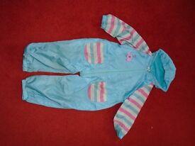 Blue Zoo 18 month waterproof suit