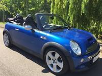 MINI COOPER S 6 SPEED CABRIOLET LOW MILEAGE FULL MOT IMMACULATE FIRST TO SEE WILL BUY