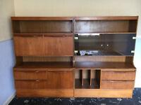 1970's Display cabinets