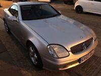 2003 AUTOMATIC MERCEDES SLK 200 KOMPRESSOR CONVERTIBLE. BRILLIANT DRIVE.4/10/18 MOT. 2 KEYS.CLEAN.