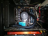 Gaming PC - AMD FX 8320, 8GB Ram, 128GB SSD, 3GB Graphics, Water cooled