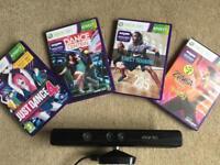 Xbox 360 Kinect + 4 Kinect games