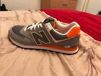 Grey and orange new balance size 8.5