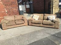 Olive matching 3 seater and 2 seater suite