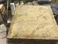 Reclaimed Buff Riven Paving Slabs