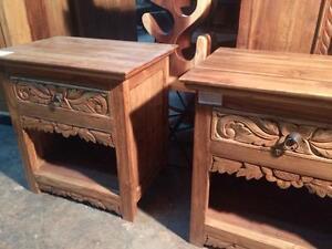 Tables de Chevet Bois de Teck -Indonésie // Teak Wood Nightstands made in Indonesia