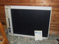 Old Graphtec FP7100 A1 flatbed plotter with stand and manual