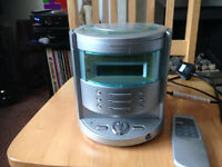 Goodmans mini stereo radio/cd player with remote, and instructions
