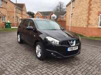 2012 NISAN QASHQAI ACENTA +2 DCI , 12 MONTH MOT, SERVICE HISTORY, LOW MILEAGE, HPI CLEAR, 7 SEATER