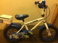 Childs bike Police Patrol wheels size 14