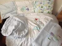 Mamas and papas cot bed set