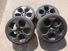 "VW Monza style 18"" 5x112 alloy wheels + 1 tyre audi seat skoda vag"