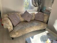French Connection Sofa & Snuggle Arm Chair