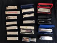 Set of 17 Harmonicas (Different keys & brands)
