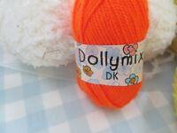 3 Balls of Dolly Mix DK orange wool brand new