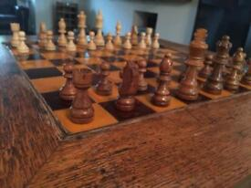 Beautiful antique chess table