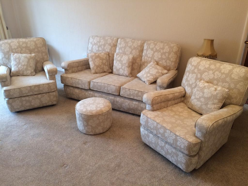 1950s Classic Vintage 3 Piece Sofa Set Suite Fully Restored