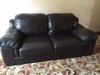 BLACK LEATHER SOFA FOR SALE!!!!!!!!!!!!!!!!!!!!!!