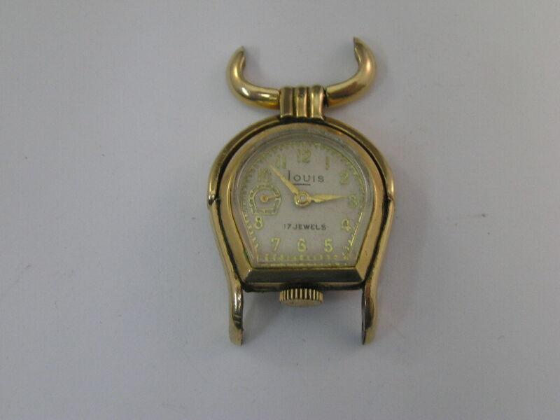 Vintage Louis Watch Swing Lug Seconds at 9:00 Fancy Case 1930
