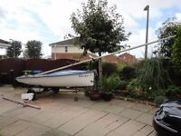 lARK DINGHY FOR SALE. READY FOR THE WATER.