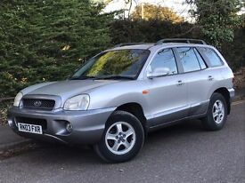 2003 HYUNDIA SANTA FE TD, 2.0, DIESEL, NEW MOT WITH EXCELLENT SERVICE HISTORY.