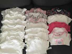 3-6m baby girl vest bundle