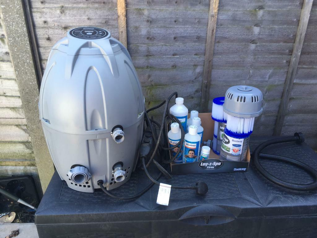 Lazy Spa   Spare pump/heater, filters and chemicals and ph strips | in  Canvey Island, Essex | Gumtree