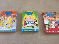 Family Guy DVD series 4, 5 and 7 £5 each