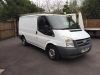 2008-08-reg ford transit 2.2tdci 85ps swb low roof long mot no vat to pay can delivery