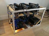 Ethereum Crypto Mining Rig 6x Sapphire Nitro + RX 570 4GB 180MHs /750W (Zcash, Bitcoin)