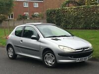 2002 PEUGEOT 206 1.1 + LOW 65K MILES + IDEAL FIRST CAR +