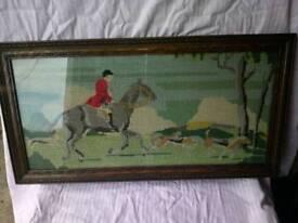 Vintage framed tapestry oak frame £10