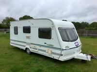 Lunar Clubman 2003 2 berth caravan with Isabella awning