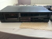 Sony stereo system and unit: radio, tape, record player and wooden unit