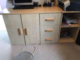 Bespoke Office Desk Unit & Extra Shelf Unit
