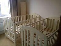 Mamas & Papas bedroom set: cotbed, wardrobe and drawers