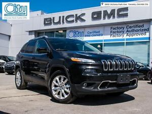 2014 Jeep Cherokee Limited/V6/NAV/SUNROOF/LEATHER