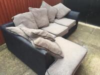 Comfy corner fabric sofa - can deliver