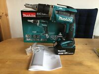 new makita 18v brushless dfs452 drywall screwdriver + 4ah starred batt. dfs452z+bl1840