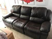 3 seater electric reclining sofa.
