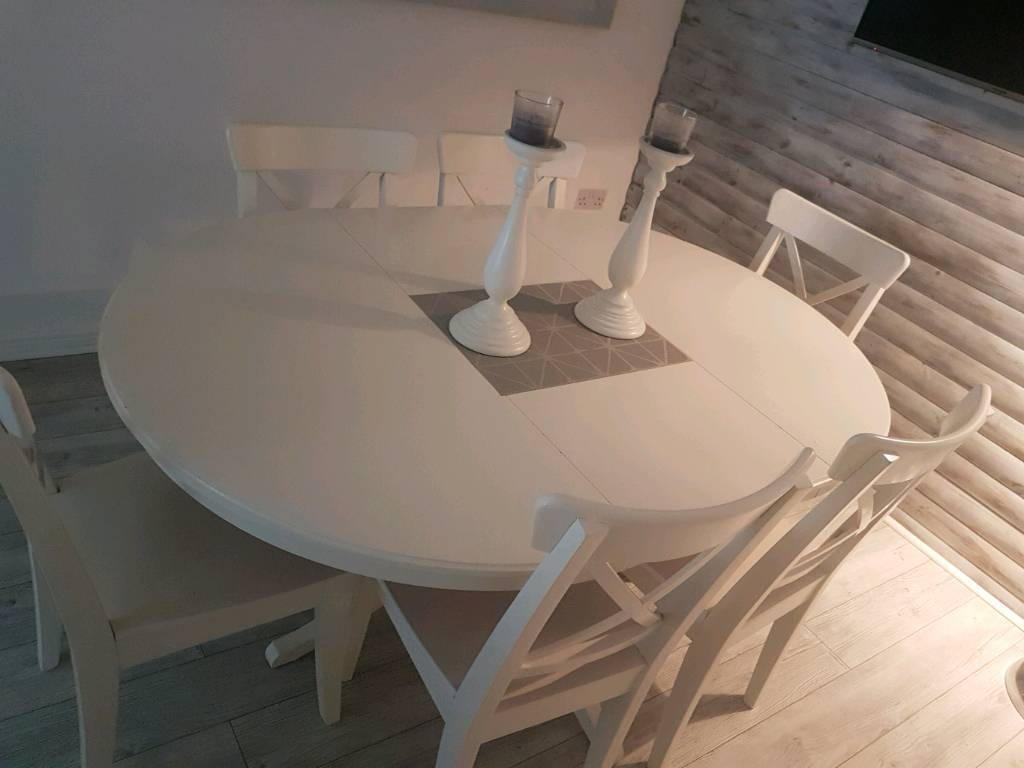 Ikea extending table and 6 chairs
