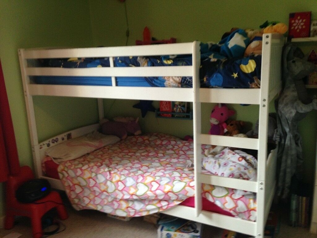 Solid Wooden Bunk Beds Normal Single Size Good Condition Some