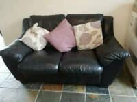 Black leather sofa MUST GO