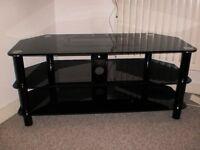 Black glass TV stand £5