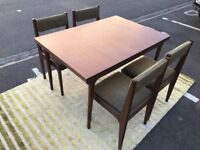 Retro Dining Table & 4 Chairs (@07752751518)