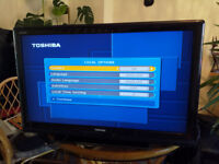 """TV LCD TOSHIBA 37"""" 2xHDMI - Freeview - NEW remote"""